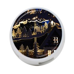 Christmas Advent Candle Arches 4 Port Usb Hub (two Sides)  by Nexatart