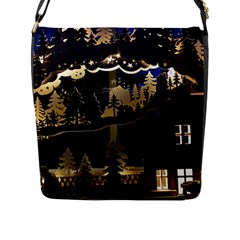 Christmas Advent Candle Arches Flap Messenger Bag (l)  by Nexatart