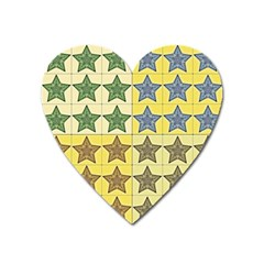 Pattern With A Stars Heart Magnet