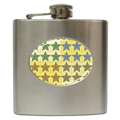 Pattern With A Stars Hip Flask (6 Oz) by Nexatart