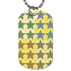 Pattern With A Stars Dog Tag (two Sides)