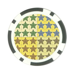 Pattern With A Stars Poker Chip Card Guard (10 pack)