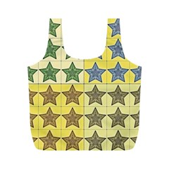 Pattern With A Stars Full Print Recycle Bags (m)