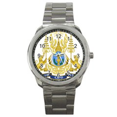 Royal Arms Of Cambodia Sport Metal Watch by abbeyz71