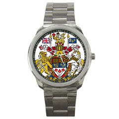 Coat Of Arms Of Canada  Sport Metal Watch by abbeyz71