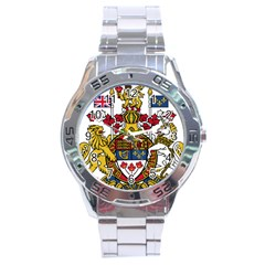 Coat Of Arms Of Canada  Stainless Steel Analogue Watch by abbeyz71