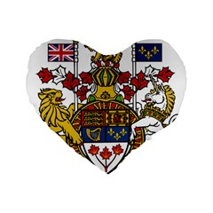 Coat Of Arms Of Canada  Standard 16  Premium Heart Shape Cushions by abbeyz71
