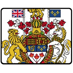 Coat Of Arms Of Canada  Double Sided Fleece Blanket (medium)  by abbeyz71