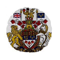 Coat Of Arms Of Canada  Standard 15  Premium Flano Round Cushions by abbeyz71