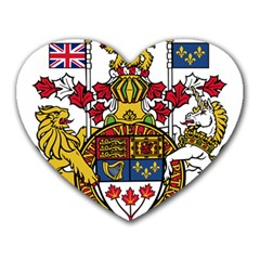 Canada Coat Of Arms  Heart Mousepads by abbeyz71