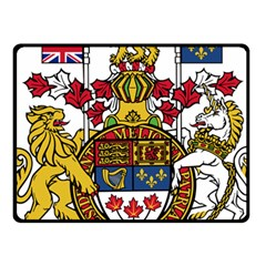 Canada Coat Of Arms  Fleece Blanket (small) by abbeyz71