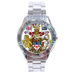 Canada Coat Of Arms  Stainless Steel Analogue Watch by abbeyz71