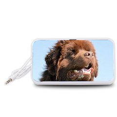 Newfie Brown Portable Speaker (White) by TailWags