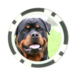 Rottweiler Poker Chip Card Guard by TailWags
