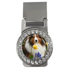 Shetland Sheepdog In Flowers Money Clips (CZ)  by TailWags