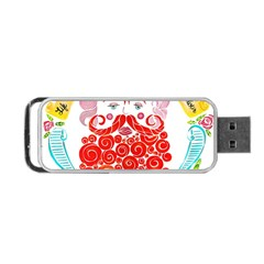 Life Is Art  Portable Usb Flash (two Sides) by Toriak