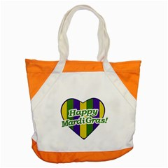 Happy Mardi Gras Logo Accent Tote Bag by dflcprints