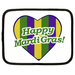 Happy Mardi Gras Logo Netbook Case (xxl)  by dflcprints