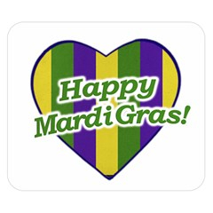 Happy Mardi Gras Logo Double Sided Flano Blanket (small)  by dflcprints