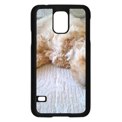 Apricot Poodle Laying Samsung Galaxy S5 Case (Black) by TailWags