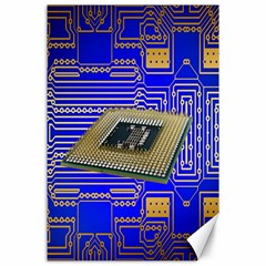 Processor Cpu Board Circuits Canvas 24  X 36