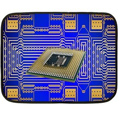Processor Cpu Board Circuits Double Sided Fleece Blanket (mini)  by Nexatart