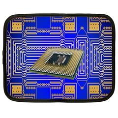 Processor Cpu Board Circuits Netbook Case (xxl)  by Nexatart