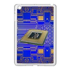 Processor Cpu Board Circuits Apple Ipad Mini Case (white) by Nexatart