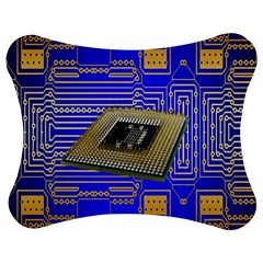 Processor Cpu Board Circuits Jigsaw Puzzle Photo Stand (bow) by Nexatart