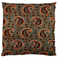 Persian Silk Brocade Large Cushion Case (two Sides) by Nexatart