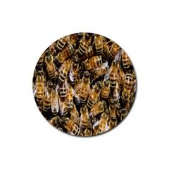 Honey Bee Water Buckfast Rubber Coaster (round)