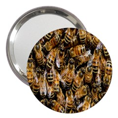 Honey Bee Water Buckfast 3  Handbag Mirrors