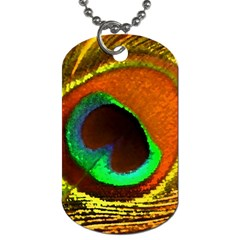 Peacock Feather Eye Dog Tag (two Sides)