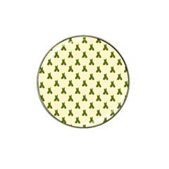 Leaf Pattern Green Wallpaper Tea Hat Clip Ball Marker