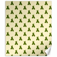 Leaf Pattern Green Wallpaper Tea Canvas 8  X 10
