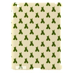 Leaf Pattern Green Wallpaper Tea Apple Ipad 3/4 Hardshell Case (compatible With Smart Cover) by Nexatart
