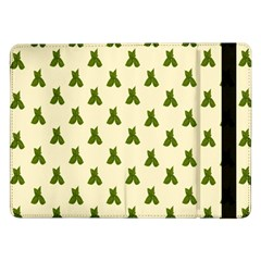 Leaf Pattern Green Wallpaper Tea Samsung Galaxy Tab Pro 12 2  Flip Case