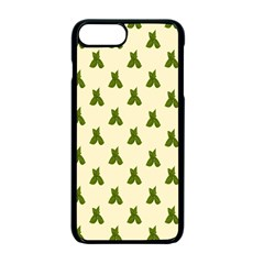 Leaf Pattern Green Wallpaper Tea Apple iPhone 7 Plus Seamless Case (Black)