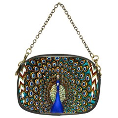 The Peacock Pattern Chain Purses (two Sides)
