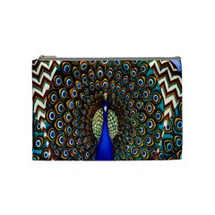 The Peacock Pattern Cosmetic Bag (medium)