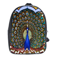 The Peacock Pattern School Bags(large)  by Nexatart