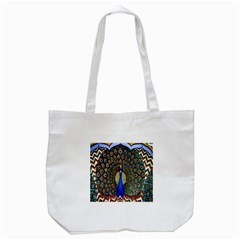 The Peacock Pattern Tote Bag (white)