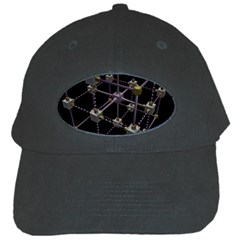 Grid Construction Structure Metal Black Cap