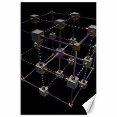 Grid Construction Structure Metal Canvas 24  X 36