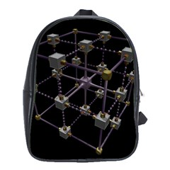 Grid Construction Structure Metal School Bags (xl)  by Nexatart