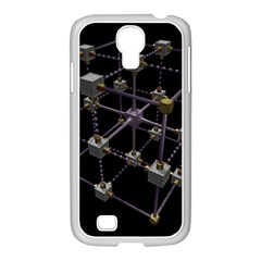 Grid Construction Structure Metal Samsung Galaxy S4 I9500/ I9505 Case (white) by Nexatart