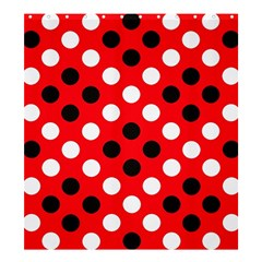 Red & Black Polka Dot Pattern Shower Curtain 66  X 72  (large)  by Nexatart