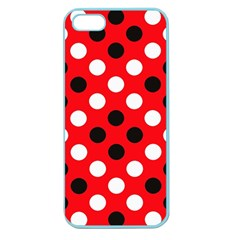 Red & Black Polka Dot Pattern Apple Seamless Iphone 5 Case (color)