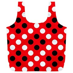 Red & Black Polka Dot Pattern Full Print Recycle Bags (l)  by Nexatart