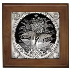 Swans Floral Pattern Vintage Framed Tiles by Nexatart